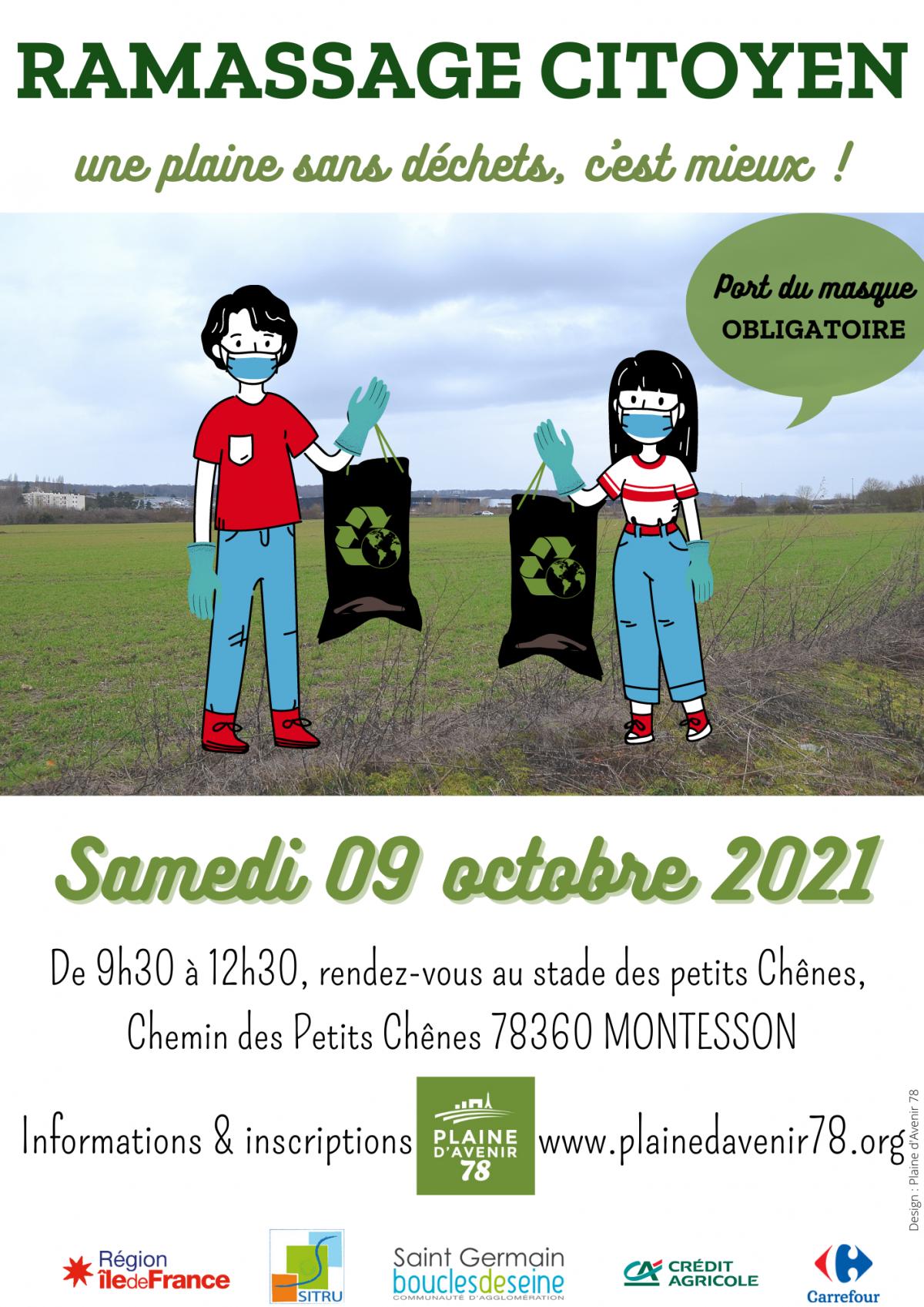 Ramassage citoyen d'automne, le samedi 9 octobre 2021 – 9h30 à 12h30