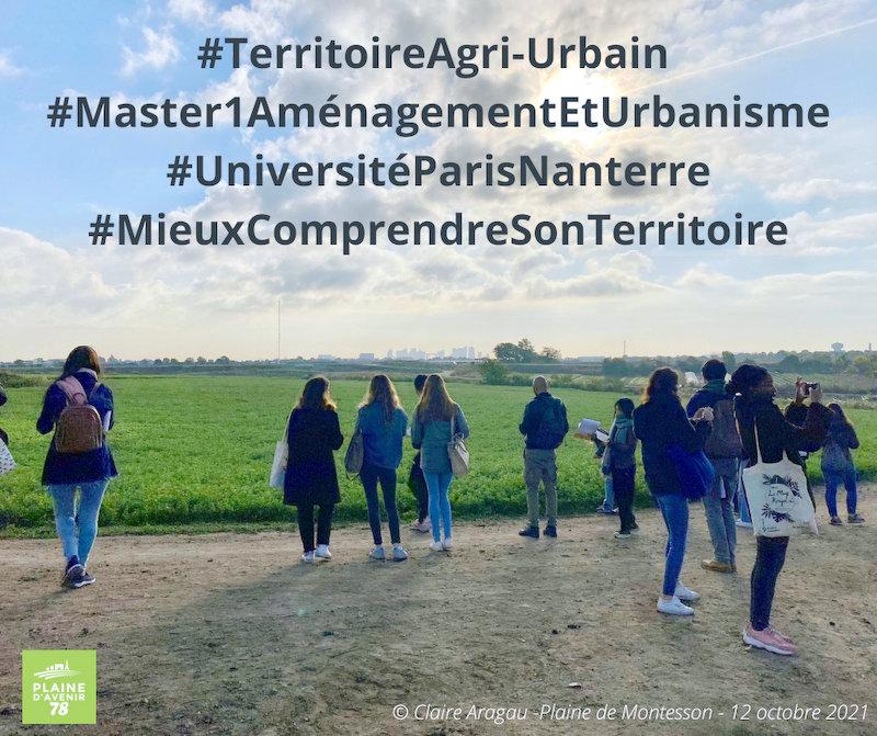 Des étudiants dans la Plaine – 12 octobre 2021